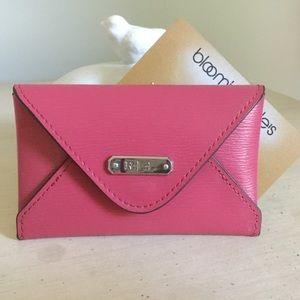 Ralph Lauren Pink Leather Credit Card Holder